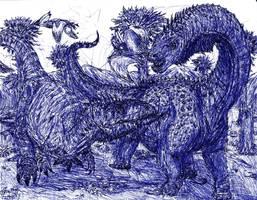 Snacking on Argentinosaurus by MickeyRayRex