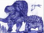 Ankylosaurus vs Tyrannosaurus