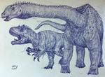 Haplocanthosaurus and Allosaurus