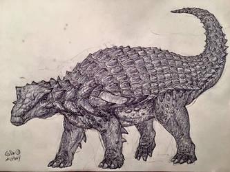 New Nodosaur by MickeyRayRex