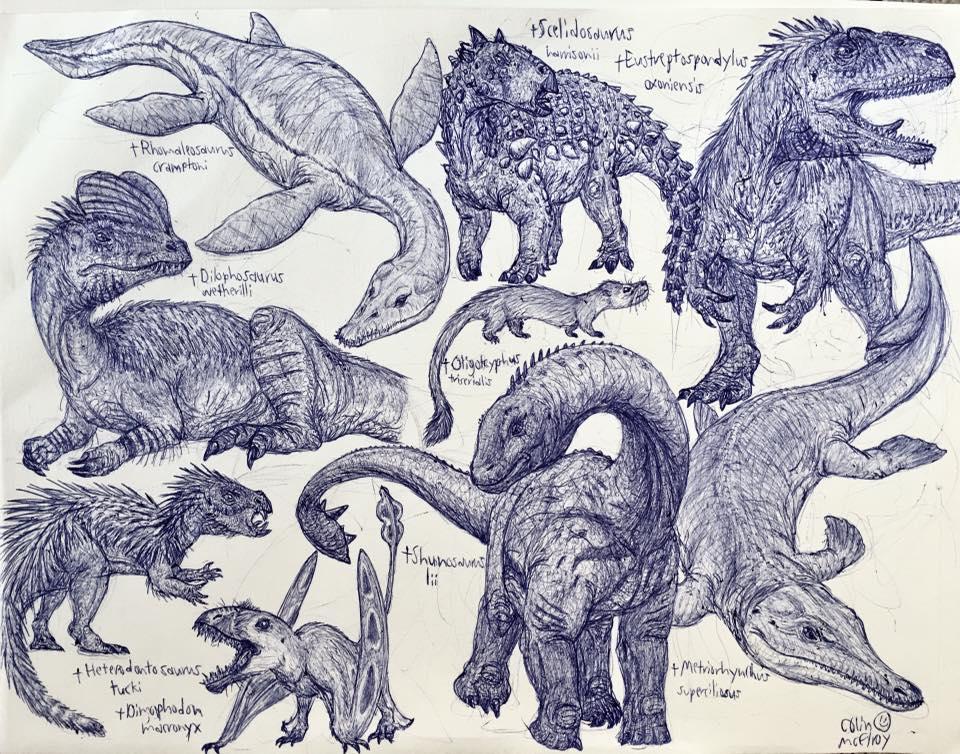 Early/Mid Jurassic Animals by MickeyRayRex