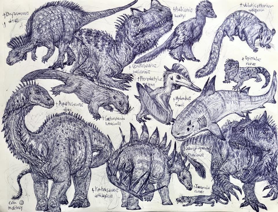 Late Jurassic Animals by MickeyRayRex
