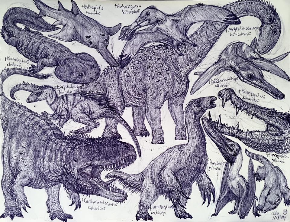 Mid-Cretaceous Animals by MickeyRayRex