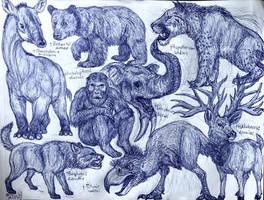 Pliocene Animals by MickeyRayRex