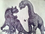 Ceratosaurus Caught in Traffic
