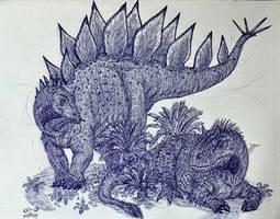Allosaurus Disturbed by MickeyRayRex