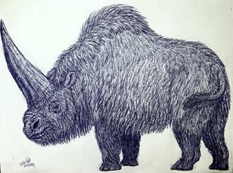 Elasmotherium by MickeyRayRex