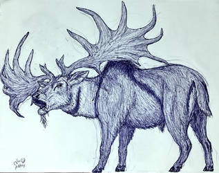 Megaloceros giganteus by MickeyRayRex