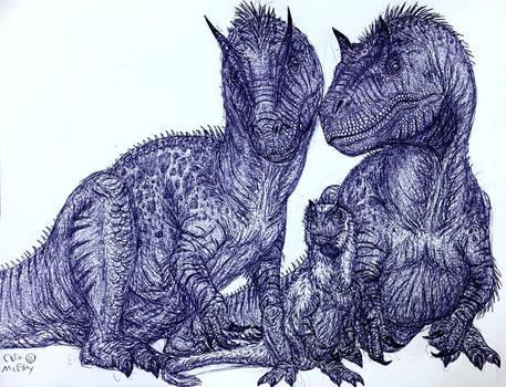 Allosaurus Family Portrait