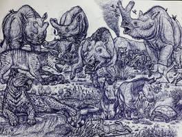 Badlands in the Eocene