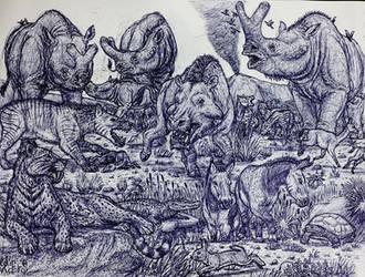 Badlands in the Eocene by MickeyRayRex