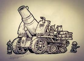 Krupp Motorised Siege Gun by The-General-Moe