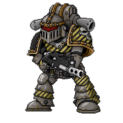 Pixel Iron Warrior by The-General-Moe