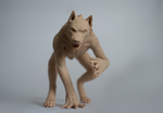 werewolf sculpture unpainted