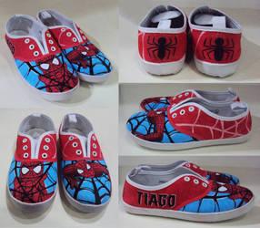 Spider-Man, custom made shoes