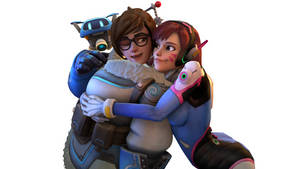 Mei and  D.va (Overwatch SFM) by suijingames