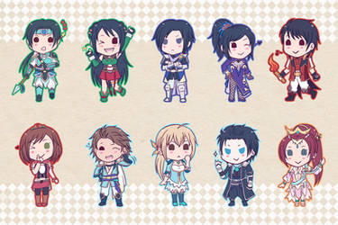 DW8 Keychain Set by Sacchii
