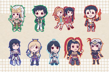 DW8 Keychain Set 02 by Sacchii