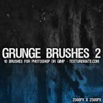 Grunge 2 Brushes - 2500px