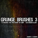 Grunge 3 Brushes - 2500 pixels