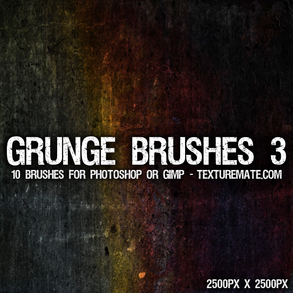 Grunge 3 Brushes - 2500 pixels by AscendedArts
