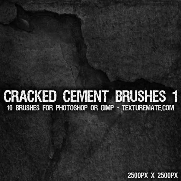 Cracked Cement 1 Brushes