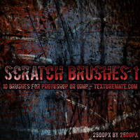 Scratches 1 Brush Set by AscendedArts