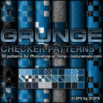 Grunge Checker Patterns 1