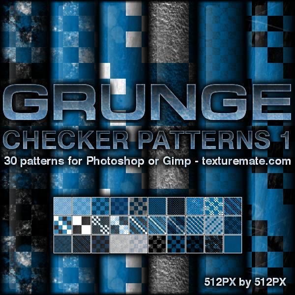 Grunge Checker Patterns 1