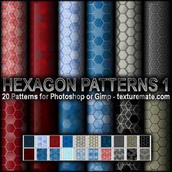 Hexagon Patterns 1 by AscendedArts