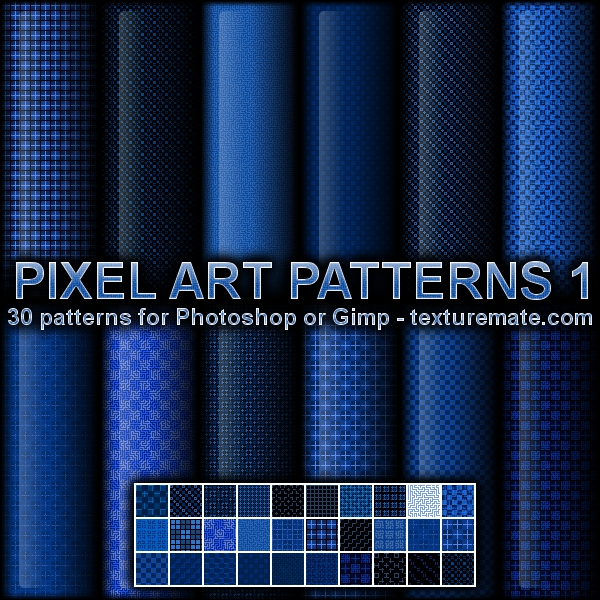 Pixel Art Patterns 1 by AscendedArts