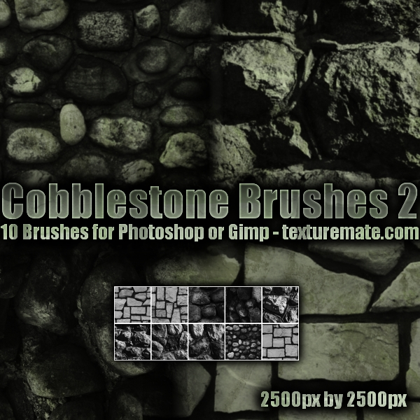 Cobblestone Brushes 2 by AscendedArts