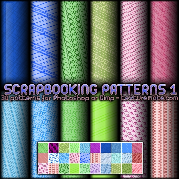 Scrapbooking Patterns 1 by AscendedArts