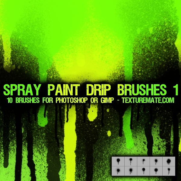 Spray Paint Drip Brushes 1 by AscendedArts