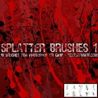 Splatter Brushes 1 by AscendedArts