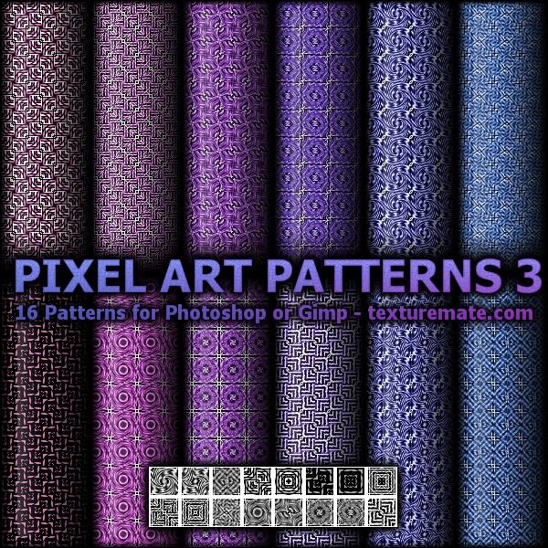 Pixel Art Patterns 3 by AscendedArts