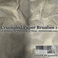 Crumpled Paper Brushes 1 by AscendedArts