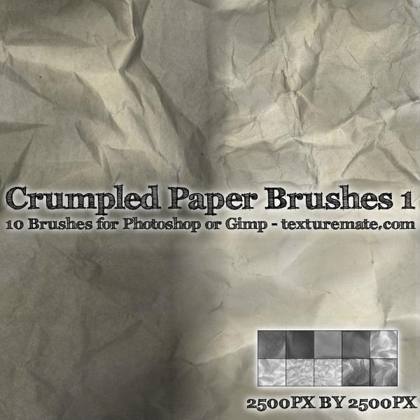 Crumpled Paper Brushes 1 By AscendedArts On DeviantArt