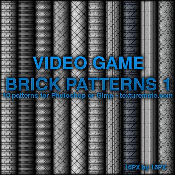 Video Game Brick Patterns 1 by AscendedArts