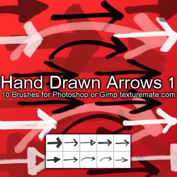 Texturemate-HandDrawnArrows01 by AscendedArts