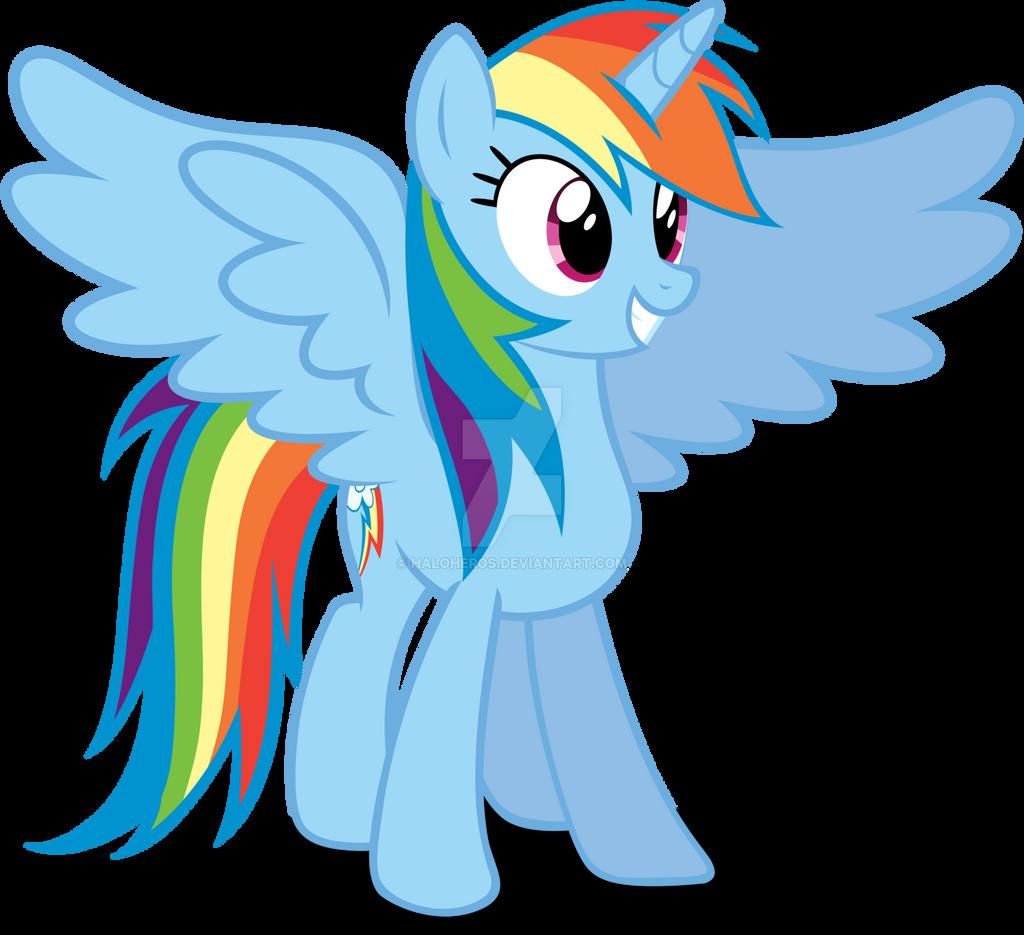 Alicorn Rainbow Dash By Haloheros-d7nwtmj by ...