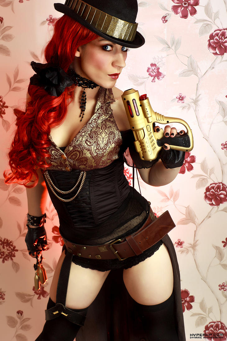 Steampunk Glamour : The Girl, The Gun by HyperXP
