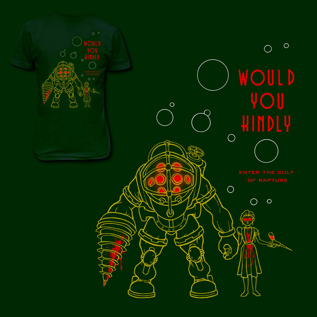 Shirt design green -  Bioshock T Shirt Design Green By Fuchipatas