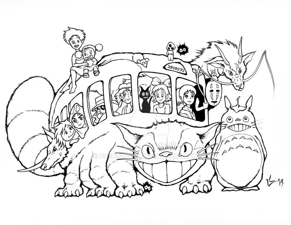 Studio Ghibli Catbus for AICN Contest - INKS by FUCHIPATAS ...