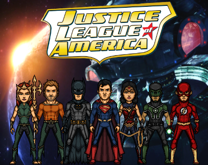 Justice League of America - 1st team (New Earth) by Nova20X