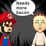 Bacon in MY MIITOMO?!?!