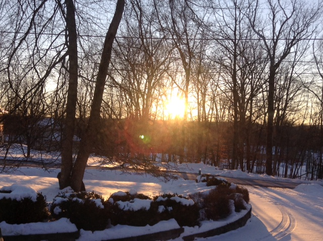 Snowy morning sunrise 2015 by SimplyKristina