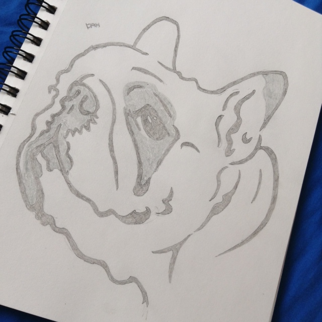 Pencil Bulldog by SimplyKristina