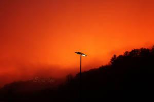 Sky on Fire by AlienJeri
