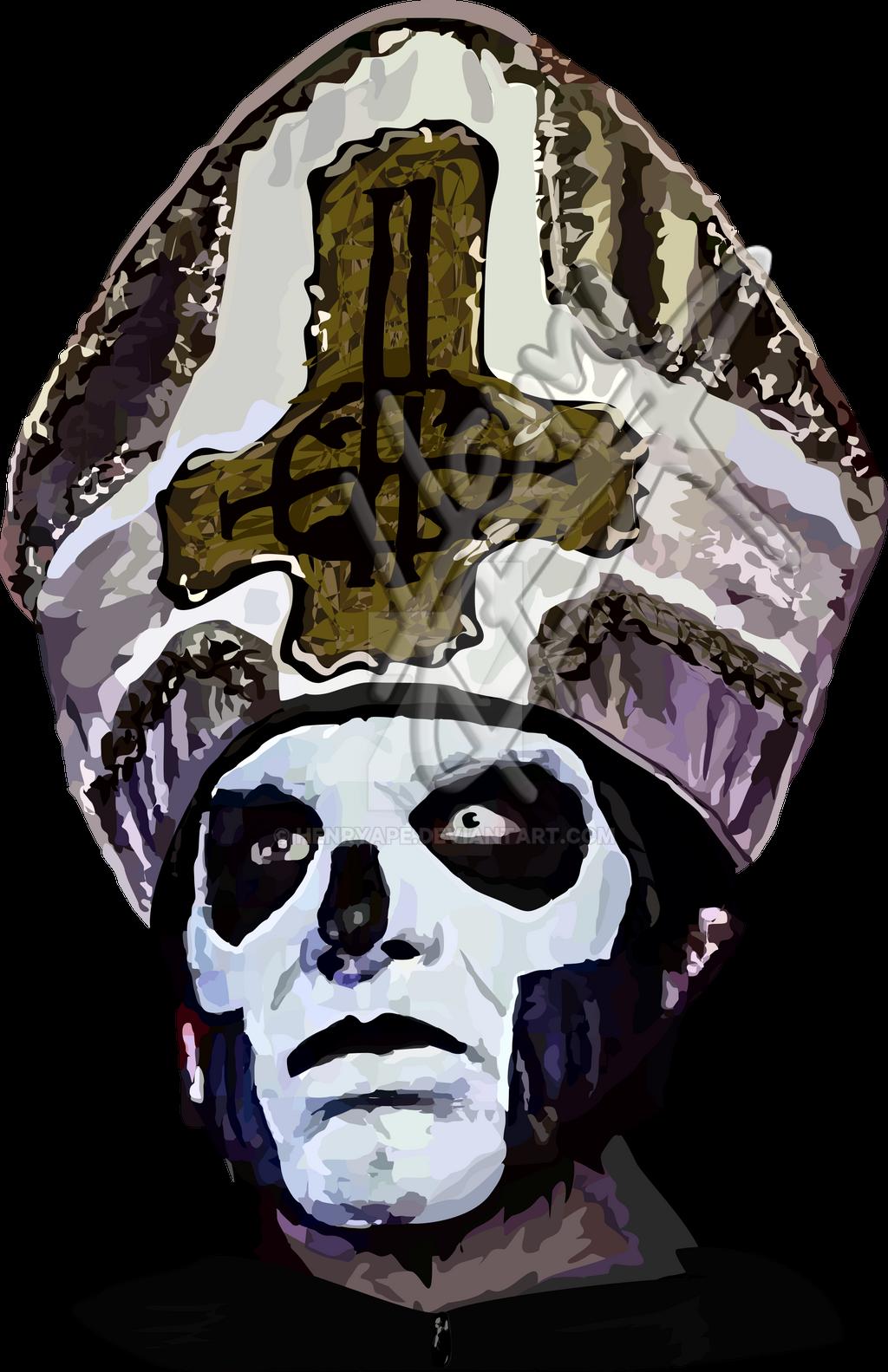 Realistic Illustration Papa Emeritus Iii By Henryape On